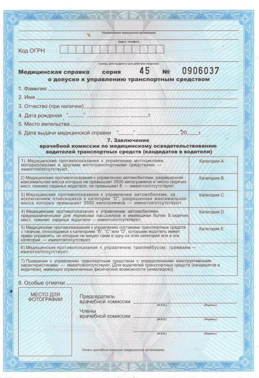 Ликино-Дулёво медицинская справка водительское удостоверение